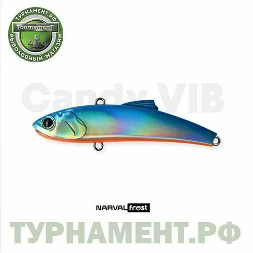 Раттлин Narval Frost Candy Vib 70mm 14g цвет 008-Blue Back Holo