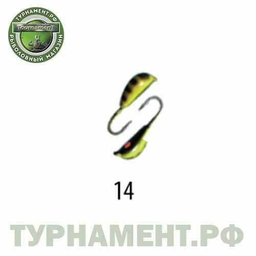Мормышка W Spider Рижский банан с ушком краш. 3,5 мм 1,00 гр. 14