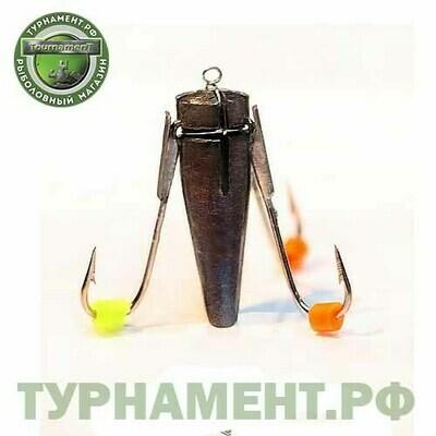 Мормышка EXPERT PRO вольфрам ведьма d3мм,3крючка (703)