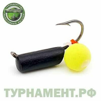 Мормышка EXPERT PRO вольфрам столбик d2,5мм с бусиной неон (339)
