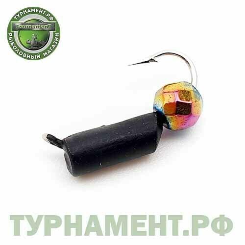 Мормышка EXPERT PRO вольфрам Столбик d2,5мм с гран.шариком Хамелеон (черный)(480)
