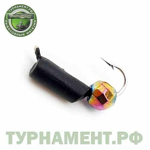 Мормышка EXPERT PRO вольфрам Столбик d3мм с гран.шариком Хамелеон (черный)(481)