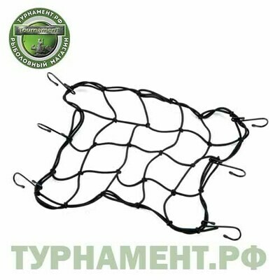 Веревка - сетка с крючками 30х30см