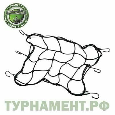 Веревка-сетка крепежная с крючками 1.2*0.8
