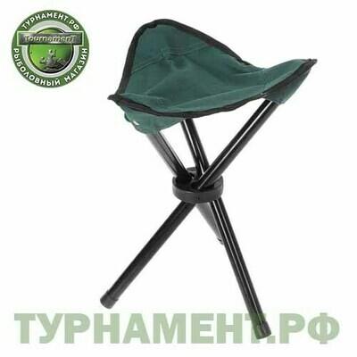 Табурет туристический треугольный, до 60 кг, размер 28 х 28 х 30 см, цвет зелёный