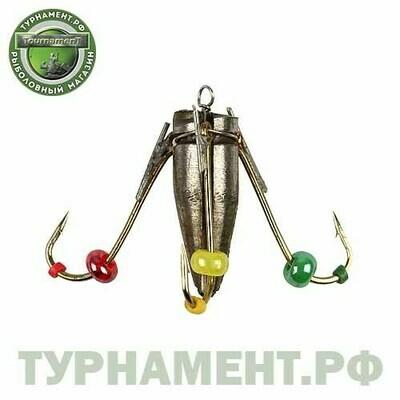 Мормышка вольф Рыбачок Ведьма с ушк. d4 золото