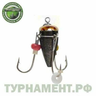 Мормышка вольф Рыбачок Ведьма с ушк. d4 черный никель