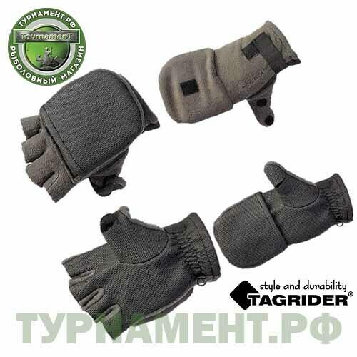 Рукавицы-перчатки Tagrider 0913-15 беспалые неопрен. флис L темный графит