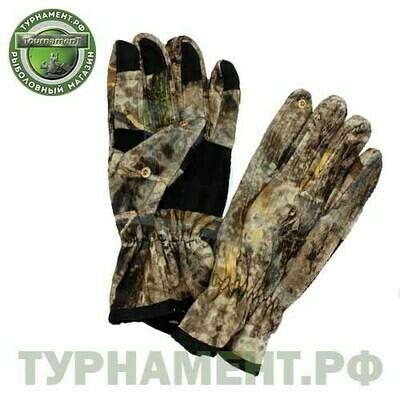 Перчатки хаки с кож. вставкой без 2-х пальцев
