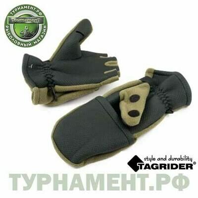 Рукавицы-перчатки Tagrider 0913-14 беспалые неопрен. флис L хаки