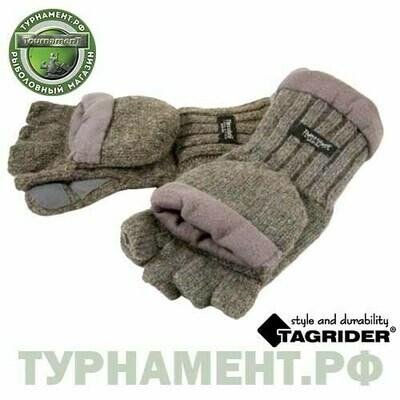 Рукавицы-перчатки Tagrider 1065-3 беспалые вязаные светлые