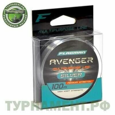 Леска Flagman Avenger Silver Line 100м 0,30мм