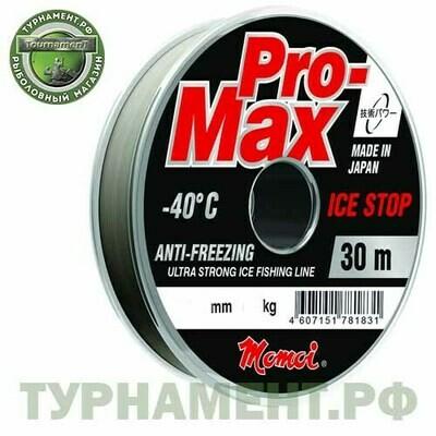 Леска Momoi Pro-Max Ice Stop 30м 0,104мм, 1,3кг