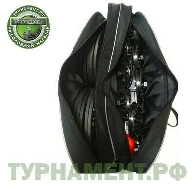 Набор жерлиц RodStars в сумке 10шт, пластиковая стойка, катушка 90 мм. (оснащенные) НОВИНКА!!!
