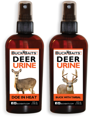 Buck Baits Doe In Heat & Buck With Tarsal 4 oz. With Sprayer