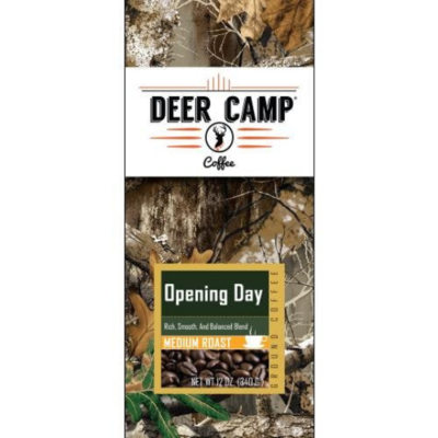 DEER CAMP COFFEE OPENING DAY 12 Oz. MEDIUM ROAST GROUND