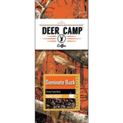 DEER CAMP COFFEE DOMINATE BUCK 12 oz. DARK ROAST GROUND