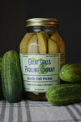 Great Lakes Pickling - Garlic Dill ( Slices) 32 oz.