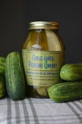 Great Lakes Pickling - Smoked Garlic Dill Spears 32 oz.
