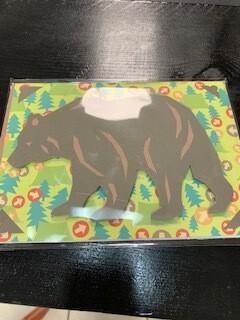 Bear Scene - Greeting Blank Card