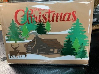 Merry Christmas Greeting Card - Cabin