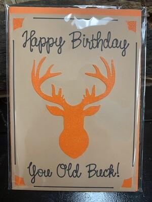 Birthday Old Buck  Card