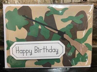 Birthday Camo  Card