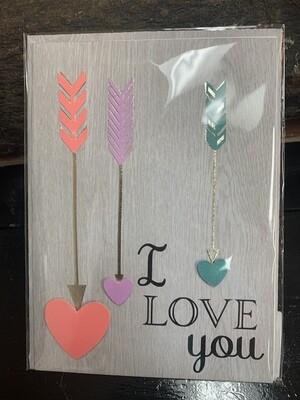 I Love You Arrow Card