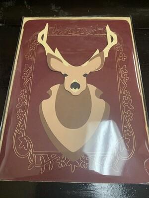 Mounted Buck - Blank Card
