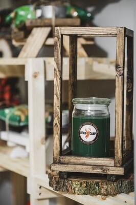 Wooden Lantern Decorative - Natural