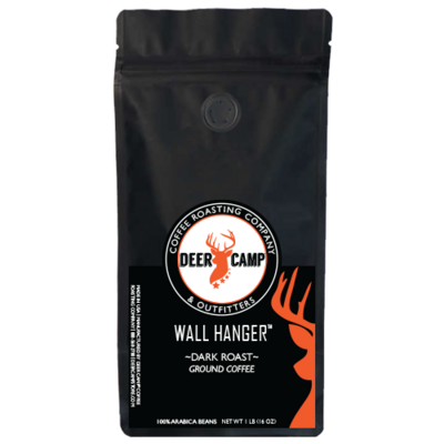 DEER CAMP COFFEE Wall Hanger Dark Roast 1 lb Ground