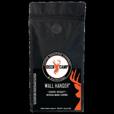 DEER CAMP COFFEE WALL HANGER DARK ROAST 1 lb Whole Bean
