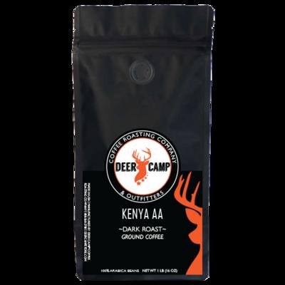 DEER CAMP COFFEE - Kenya AA (Conventional) 1 lb Ground