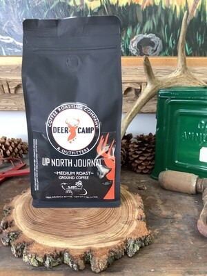 DEER CAMP COFFEE - Up North Journal Medium Roast Blend 1 lb Ground