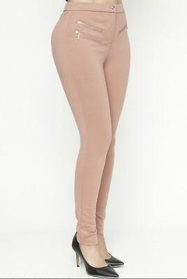 Zippered Skinny Leggings