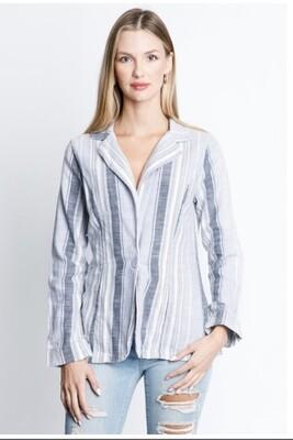 Two Button Linen Blazer