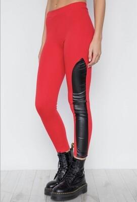 Faux Leather Side Detail Leggings