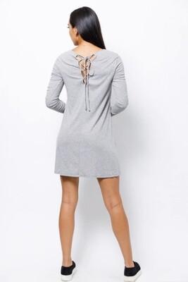 Grey String Back Dress