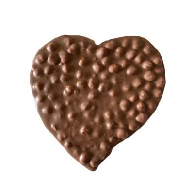 Coeur chocolat au lait et noisettes entières (250g)