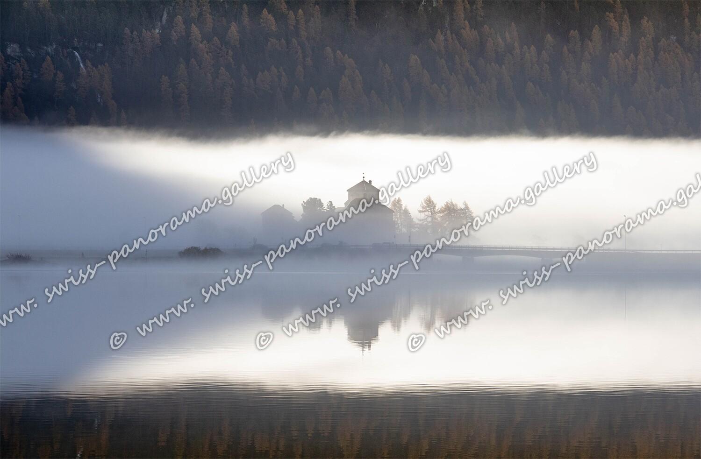 Herbststimmung Silvaplana Schloss Crap da Sass
