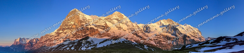 Alpenglühen, Eiger, Mönch & Jungfrau