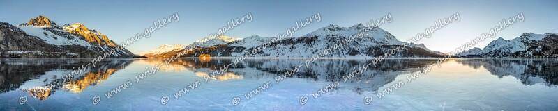 Silsersee Schwarzeis 360 Grad Panorama