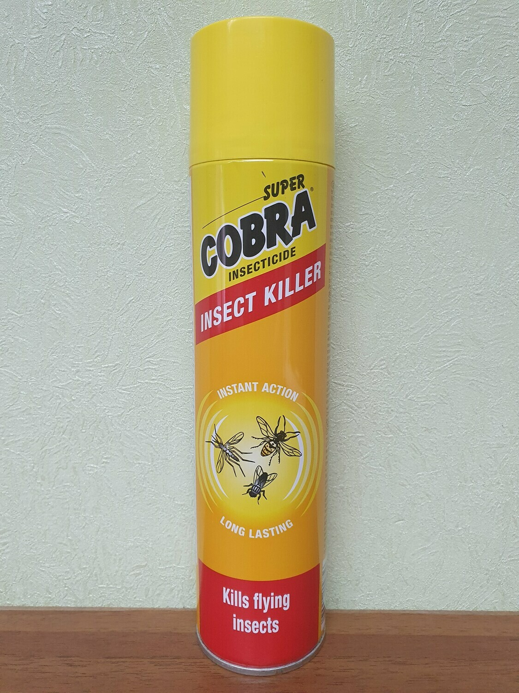 Аэрозоль Супер Кобра от летающих насекомых, 400мл
