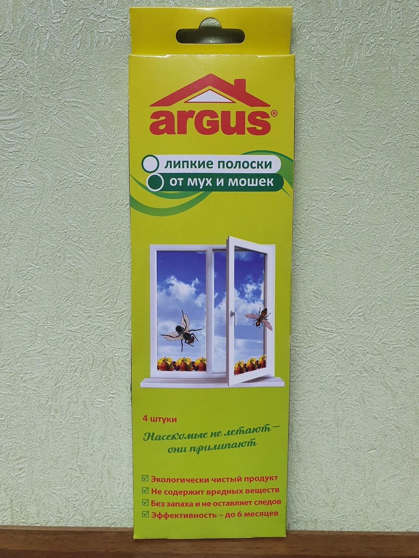 Липкие полоски от летающих насекомых Argus, 4шт