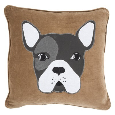 Frenchie Pillow 18x18