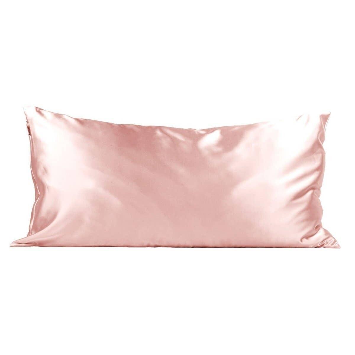 King Satin Pillowcase- Blush