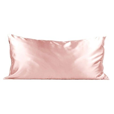 King Satin Pillowcase- Blush