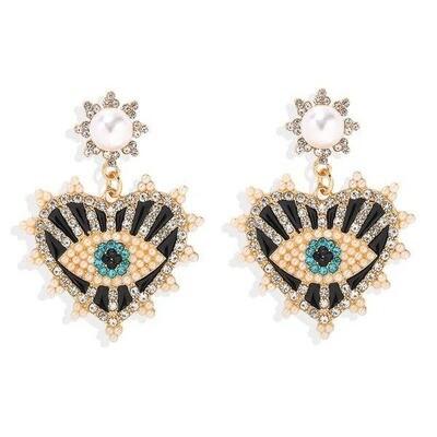 Swarovski Eye Heart Earrings