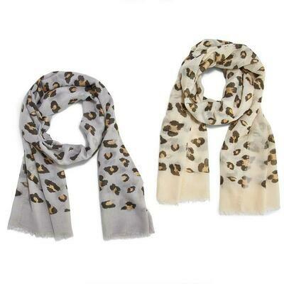 Leopard Scarf Gold Spots