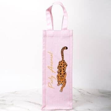 Wine Bag- Pink Cheetah